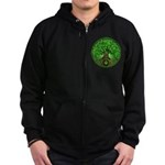 Circle Celtic Tree of Life Zip Hoodie (dark)