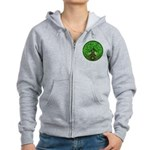 Circle Celtic Tree of Life Women's Zip Hoodie