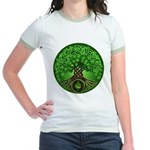 Circle Celtic Tree of Life Jr. Ringer T-Shirt