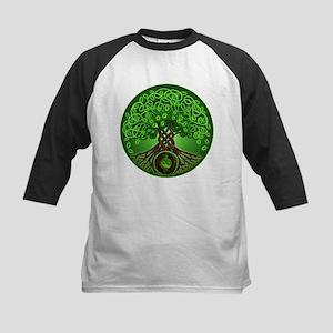 Circle Celtic Tree of Life Kids Baseball Jersey