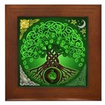 Circle Celtic Tree of Life Framed Tile