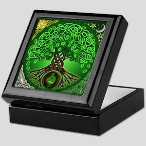 Circle Celtic Tree of Life Keepsake Box