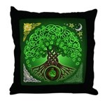 Circle Celtic Tree of Life Throw Pillow