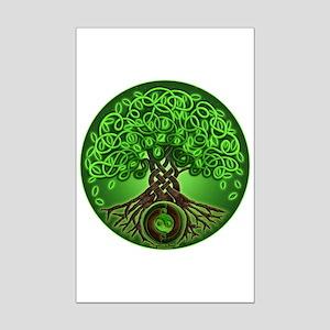 Circle Celtic Tree of Life Mini Poster Print