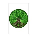 Circle Celtic Tree of Life Mini Poster Print