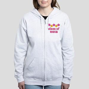 Floral School Class 2018 Women's Zip Hoodie