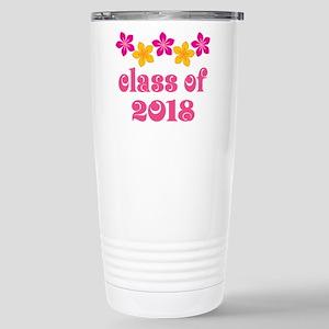 Floral School Class 2018 Stainless Steel Travel Mu