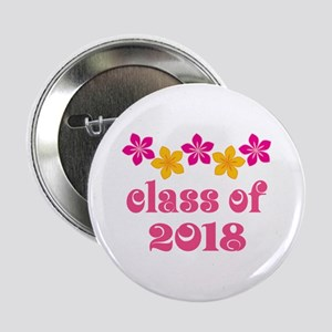 "Floral School Class 2018 2.25"" Button"