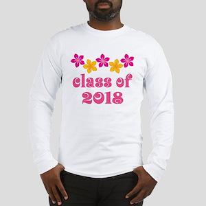 Floral School Class 2018 Long Sleeve T-Shirt