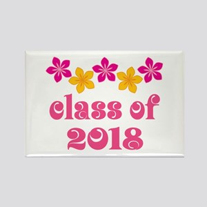Floral School Class 2018 Rectangle Magnet