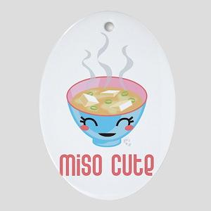 Miso Cute Oval Ornament