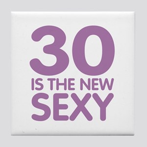 30 is the new Sexy Tile Coaster