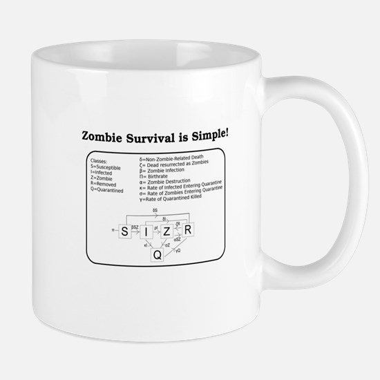"""Zombie Mathematical Model"" Mug"