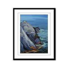 Monhegan -Pulpit Rock 054 Framed Panel Print