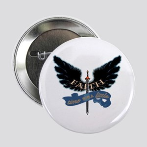 "Faith on Angel Wings 2.25"" Button"