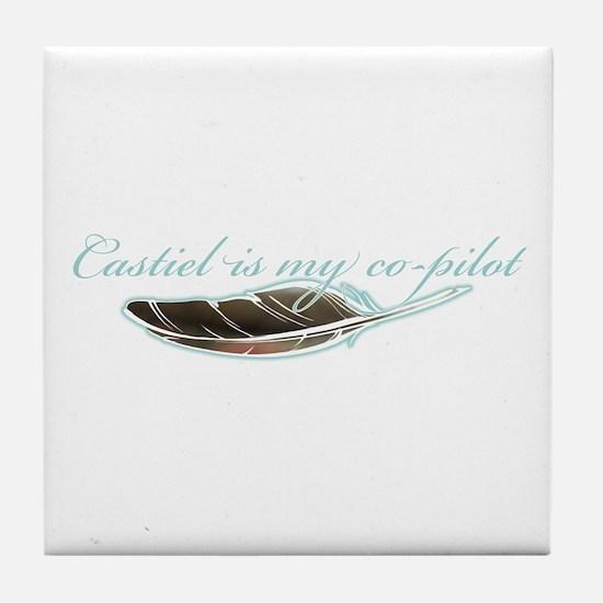 Angel Co-Pilot Tile Coaster