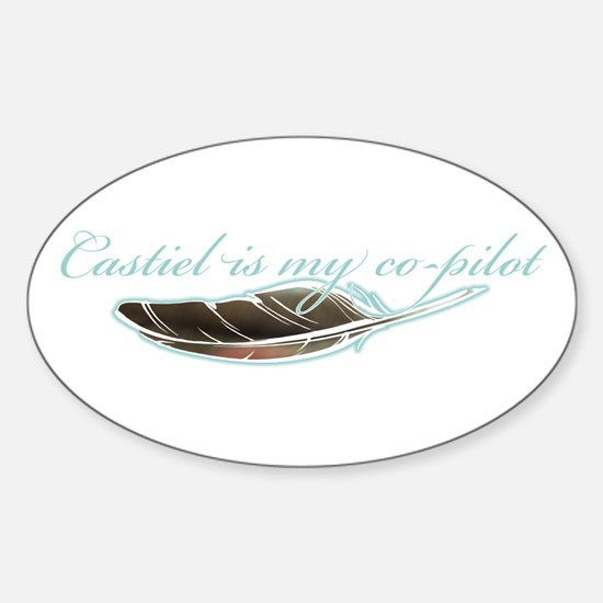 Angel Co-Pilot Oval Decal