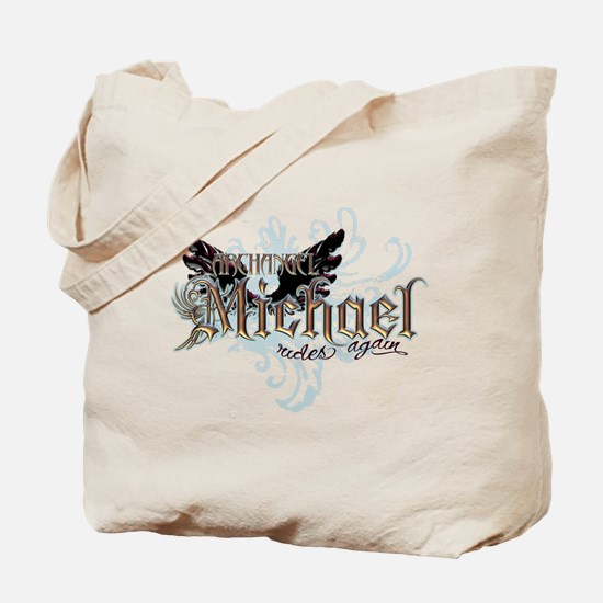 Archangel Michael Rides Again Tote Bag