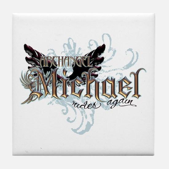 Archangel Michael Rides Again Tile Coaster