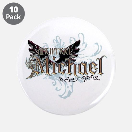 "Archangel Michael Rides Again 3.5"" Button (10 pack"