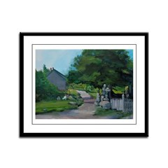 Monhegan Main St. 058 Framed Panel Print