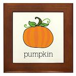 pumpkin Framed Tile