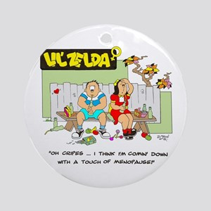,,,touch of menopause Ornament (Round)