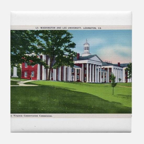 1935 Washington and Lee University Tile Coaster