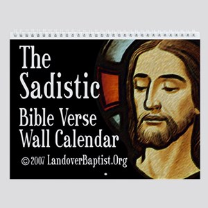 The Sadistic Bible Verse Wall Calendar
