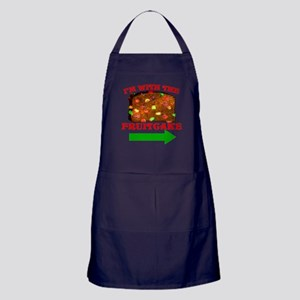 I'm With The Fruitcake Apron (dark)