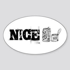 Nice Cans Oval Sticker
