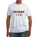 White Fitted Barcelona T-Shirt