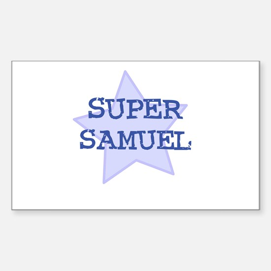 Super Samuel Rectangle Decal