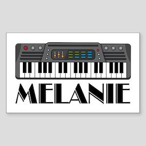 Personalized Keyboard Melanie Rectangle Sticker