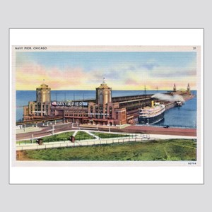 1930's Chicago's Navy Pier Small Poster
