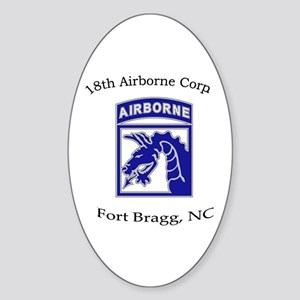 18th ABN Corps Oval Sticker
