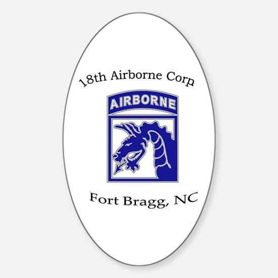 18th ABN Corps Oval Decal