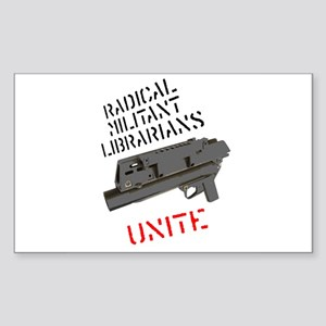 radical militant librarian Rectangle Sticker