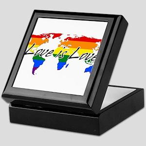 Gay Pride Love Is Love Worldwide Keepsake Box