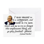 Barber on his Destiny Greeting Cards (Pk of 10)