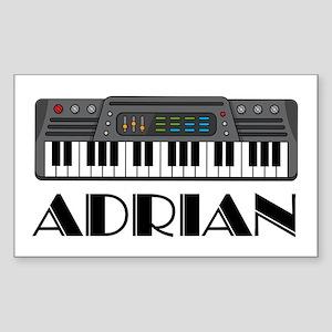 Personalized Keyboard Adrian Rectangle Sticker