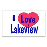 Rebuild Lakeview Rectangle Sticker