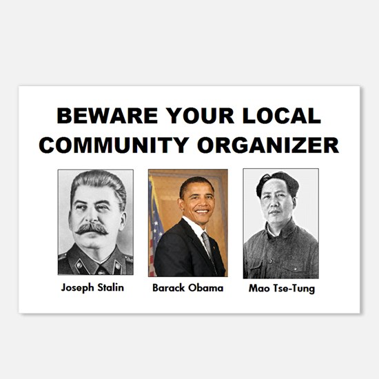 Beware community organizer Postcards (Package of 8