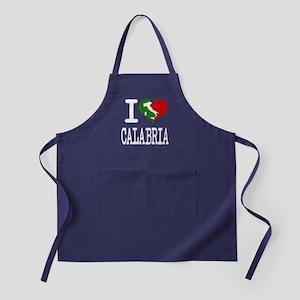 I Love Calabria Apron (dark)