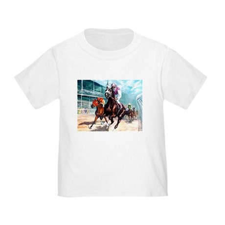 DOWN THE FIRST TURN Toddler T-Shirt