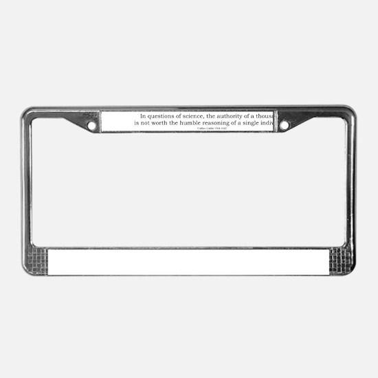 Galilei License Plate Frame