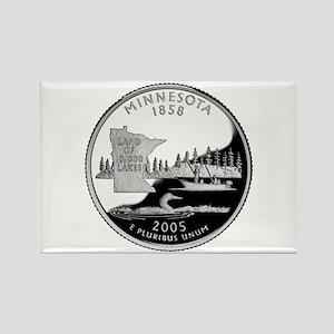 Minnesota Quarter Rectangle Magnet