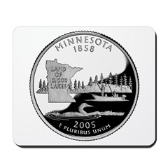 Minnesota Quarter Mousepad