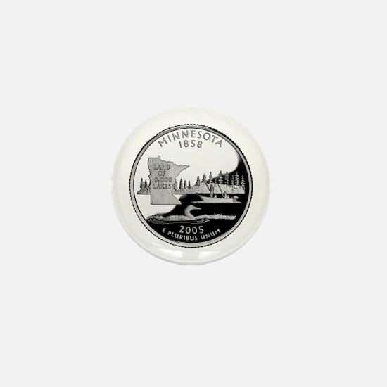Minnesota Quarter Mini Button