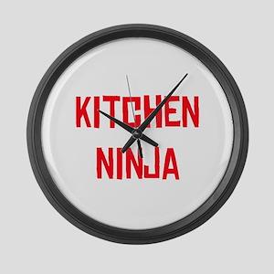 Kitchen Ninja Large Wall Clock